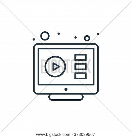 video player icon isolated on white background from  collection. video player icon trendy and modern