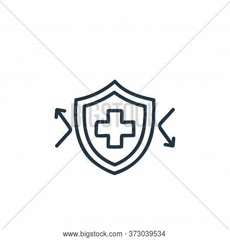 immune system icon isolated on white background from  collection. immune system icon trendy and mode