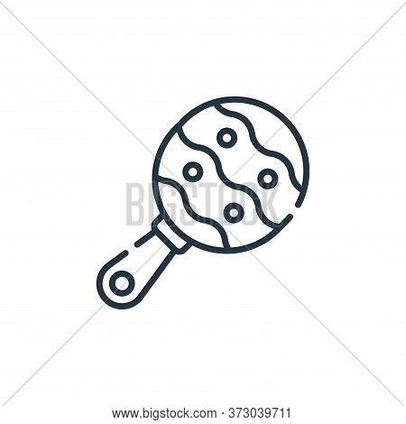 Rattle Vector Icon Isolated On White Background.