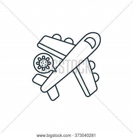 airplane icon isolated on white background from  collection. airplane icon trendy and modern airplan