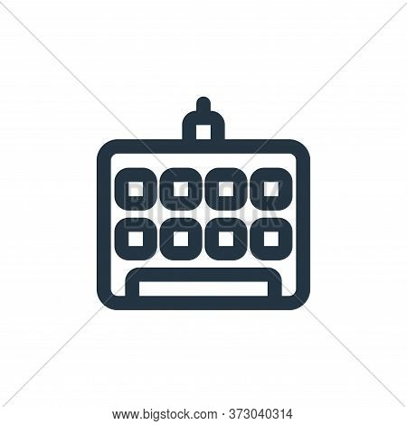 keyboard icon isolated on white background from  collection. keyboard icon trendy and modern keyboar