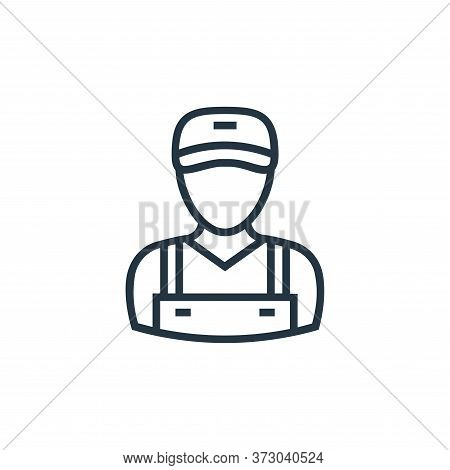 delivery man icon isolated on white background from  collection. delivery man icon trendy and modern