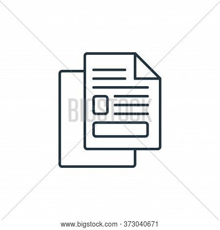 copy icon isolated on white background from  collection. copy icon trendy and modern copy symbol for