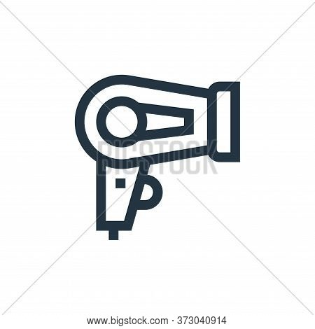 hair dryer icon isolated on white background from  collection. hair dryer icon trendy and modern hai