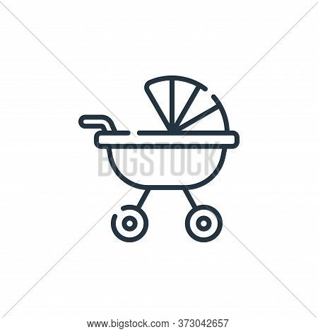 baby stroller icon isolated on white background from  collection. baby stroller icon trendy and mode