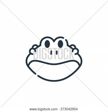 frog icon isolated on white background from  collection. frog icon trendy and modern frog symbol for