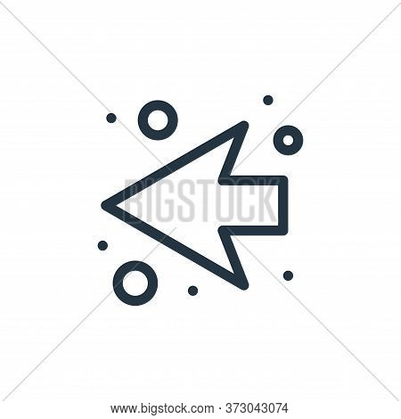 back arrow icon isolated on white background from  collection. back arrow icon trendy and modern bac