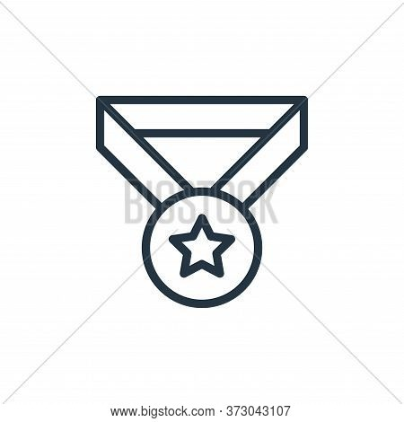Medal Vector Icon Isolated On White Background.