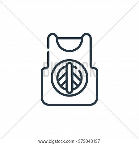 Tank Top Vector Icon Isolated On White Background.