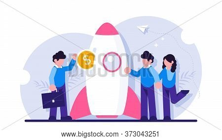 Startup Investment Concept. Venture Capital Financing, Financial Support Of Innovative Technologies.