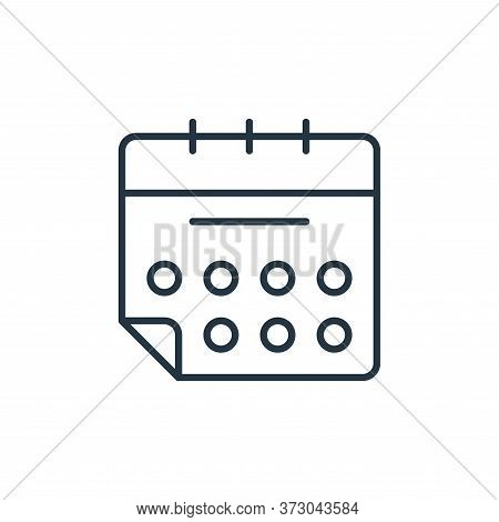 calendar icon isolated on white background from  collection. calendar icon trendy and modern calenda