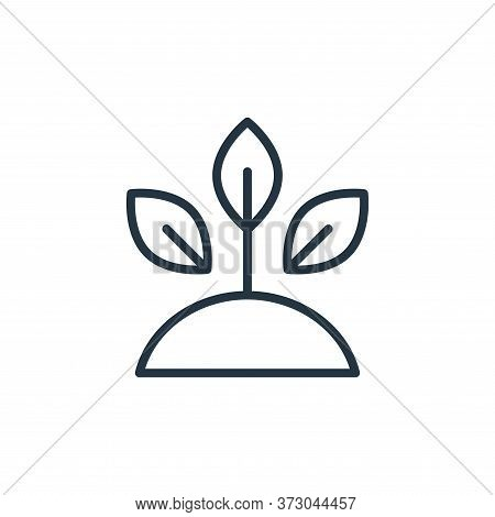 sprout icon isolated on white background from  collection. sprout icon trendy and modern sprout symb