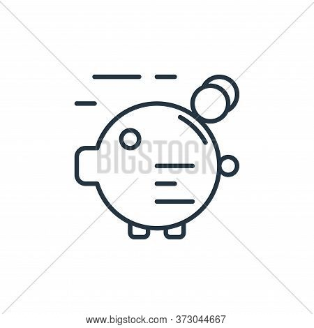 piggy bank icon isolated on white background from  collection. piggy bank icon trendy and modern pig