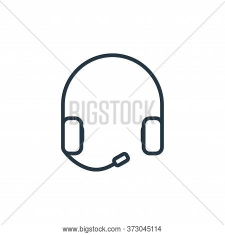 Earphone Vector Icon Isolated On White Background.