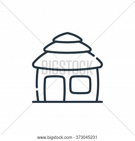 Hut Vector Icon Isolated On White Background.
