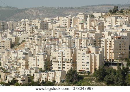 Hillside Homes Near The Old City Of Jerusalem, Israel
