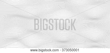 Surface With Distorted Lines, Abstract Digital Background. Technology Pattern For Web Design. Vector