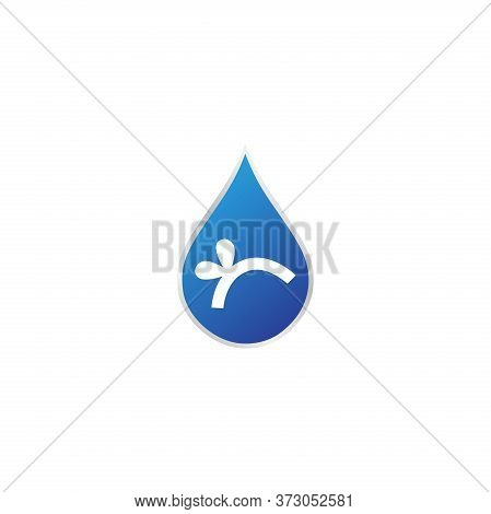 Modern Plumbing Service Logo Silhouette Editable Vector File. Spigot Icon. For Business Man And Comp