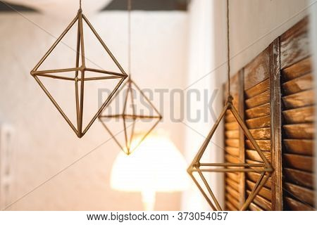 Beautiful And Stylish Lamp In The Form Of A Rhombus