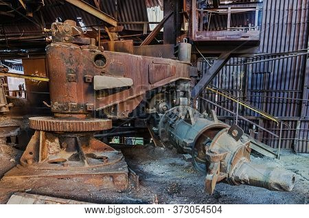 Cast Iron Casting Devic Of An Abandoned Ironworks