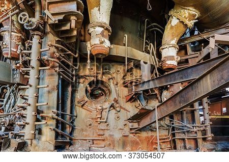 Blast Furnace In An Abandoned Factory