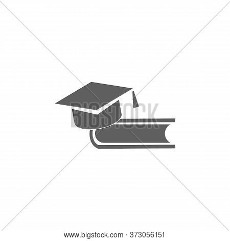 Book And Bachelor Hat, Education Symbol, Knowledge Concept. Graduate Hat - Education And Training Ve