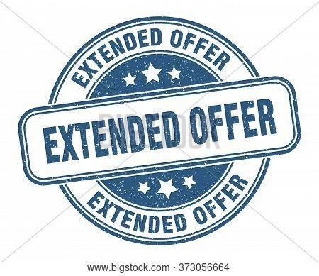 Extended Offer Stamp. Extended Offer Round Grunge Sign. Label
