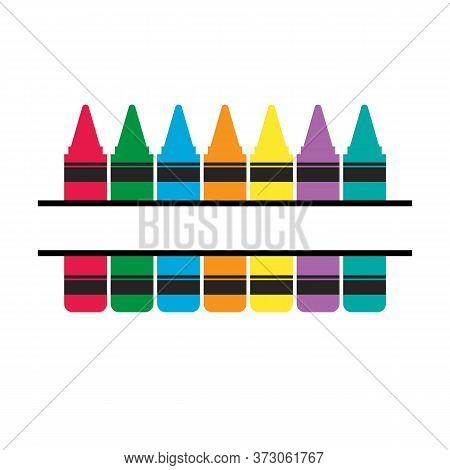 Crayons Icon On White Background. Crayons Collection Sign.