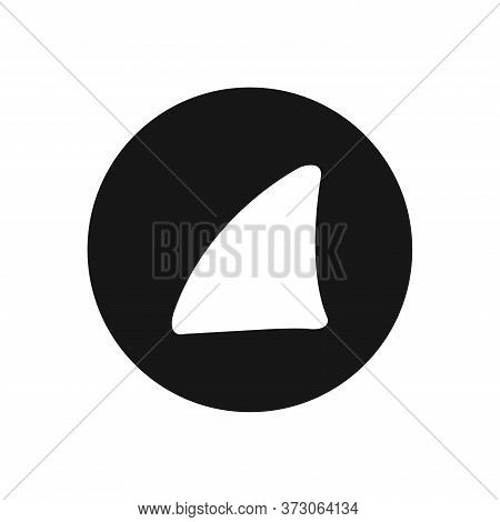 Shark Fin Icon Isolated On White Background. Shark Fin Icon In Trendy Design Style For Web Site And