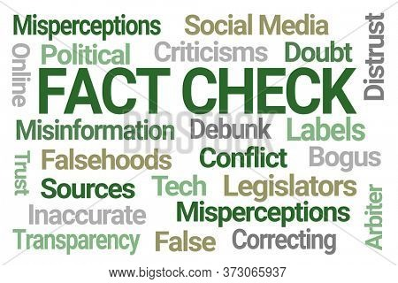 Fact Check Word Cloud on White Background