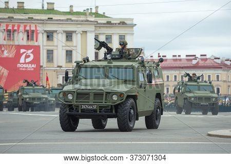 Saint Petersburg, Russia - June 20, 2020: Russian Armored Car