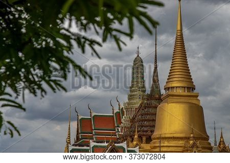 Bangkok, Thailand - Jun 19, 2020 : Wat Phra Kaew - The Temple Of Emerald Buddha. Is The Most Sacred