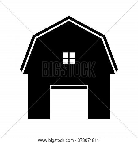 Barn Farm Icon Isolated On White Background, Barn Farm Icon Flat Vector Illustration For Graphic And