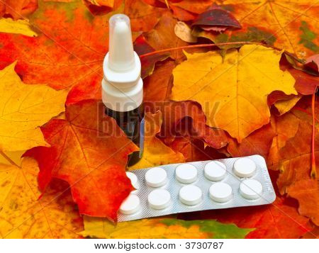 Autumn Leaves And Medicament