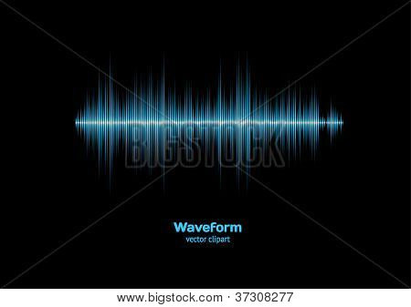 Blue Sound Waveform