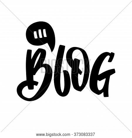 Blog - Hand Lettering With Graphic Elements For Social Media, Prints, Posters, Stickers, Posting, Bl