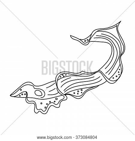 Outline Trypanosome Illustration, Science Vector Art, Microbiology Image