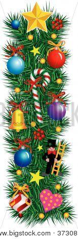 Alphabet Letter I - Christmas Decoration