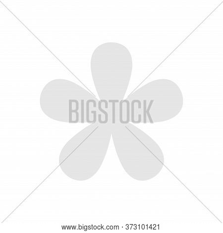 White Grey Flower Single Isolated On White, Petals Flower White For Clip Art