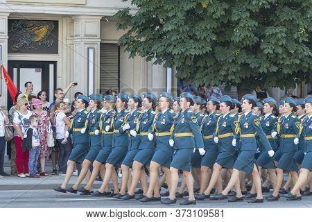Donetsk, Donetsk People Republic, Ukraine - June 24, 2020: Women From The Ministry Of Emergencies In