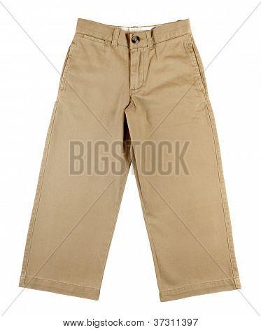 Child Pants Isolated On White Background