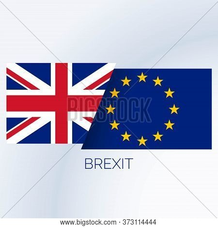 Brexit Concept Background With Uk And Eu Flags Vector Design Illustration