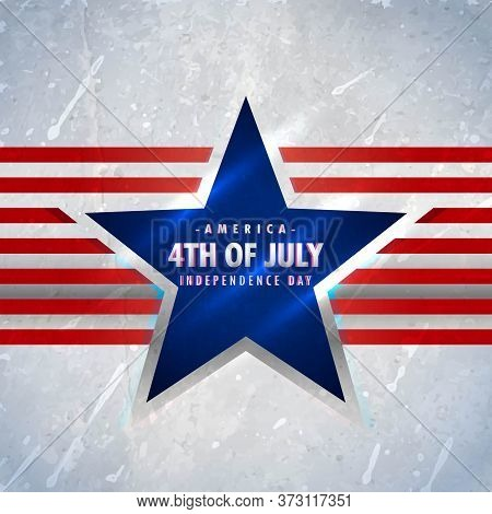 American 4th Of July Background Vector Design Illustration