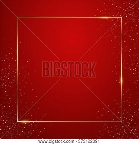 Red Gradient Square Background Vector Illustration. Elegant Colorful Wallpaper Design. Creative Back