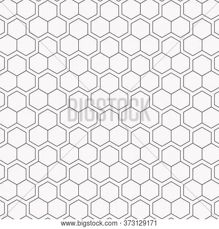 Geometric Vector Pattern, Repeating Abstract Honey Comb On Hexagons Shape. Pattern Is Clean For Fabr