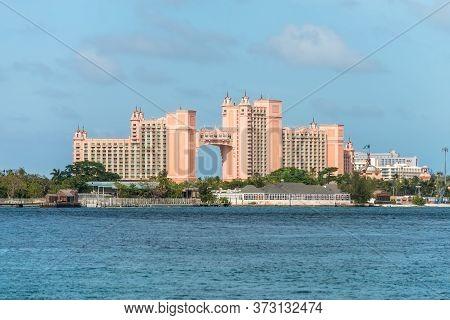 Nassau, Bahamas - May 3, 2019: The Atlantis Paradise Island Resort, Located In The Bahamas . The Res