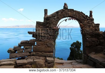 Characteristic Construction In The Taquile Island On Lake Titicaca