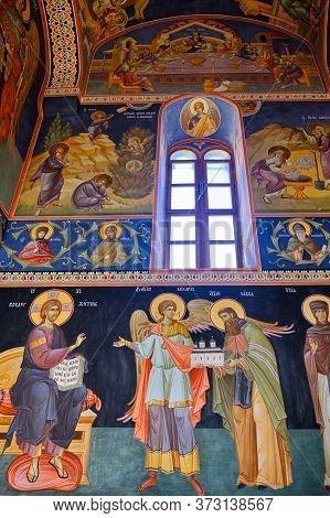 Frescoes Of The Kovilj Monastery, Serbian Orthodox Monastery In Kovilj, Serbia