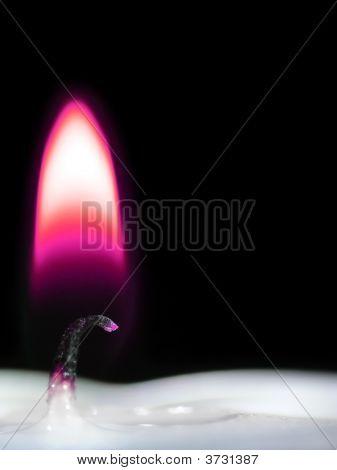 Purple Candle Light