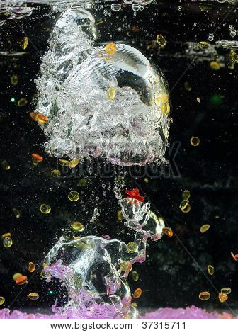 Airbubbles and beads